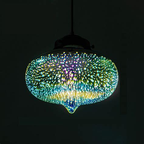 modern light fixtures decorative 3d glass shade colored glass pendant light
