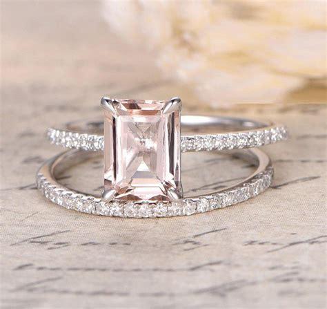 sale 1 50 carat peach pink morganite emerald cut
