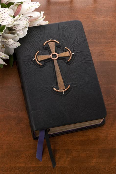 handbound custom engraved leather bible celtic cross bible