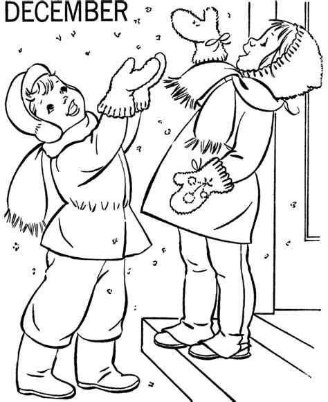 printable winter coloring pages  kids
