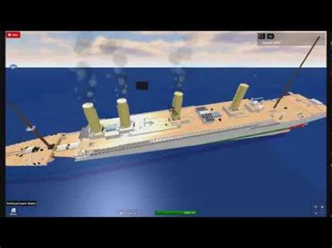 roblox hmhs britannic sink youtube