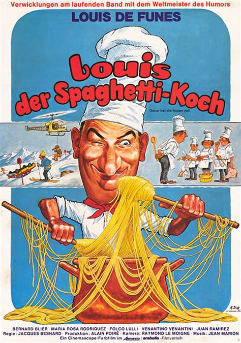 filmplakat louis der spaghetti koch  filmposter