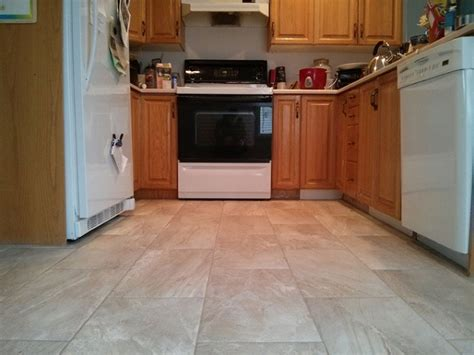 12x24 Light Colored Porcelain Tile Kitchen  Good Morning