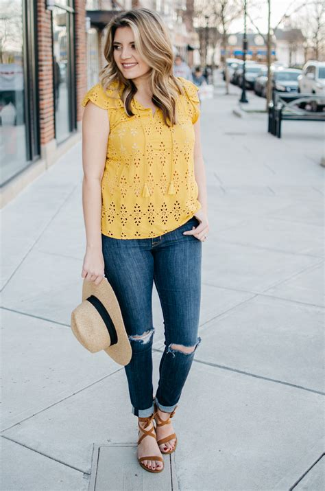 Yellow Top Spring Outfit | By Lauren M