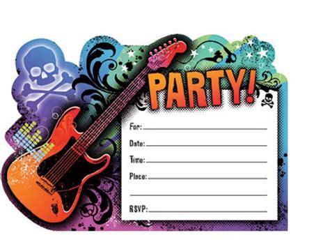 rock star birthday party invitation templates rock star