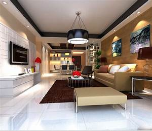 High-end, Living, Room, With, Eminent, Canvas, 3d, Model, Max