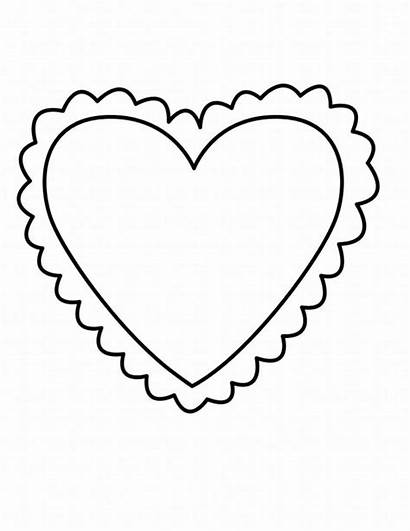 Coloring Valentine Heart Pages Children