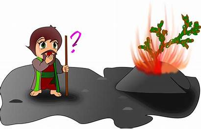 Bush Burning Moses Chibi Version Clipart Svg