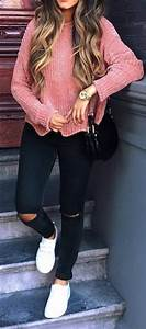 25+ Best Ideas about Pink Sweater Outfit on Pinterest | Classy winter fashion Blush pink outfit ...