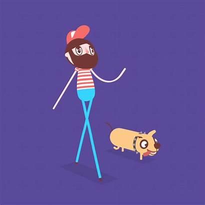 Illustration Motion Animation Dog Animated Barlavento Studio
