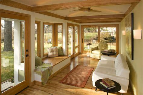 mid century modern sunroom modern family room