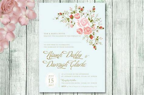 18 Fabulous Floral Spring Wedding Invitations   weddingsonline