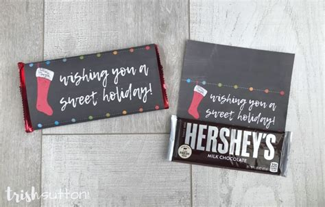Christmas is around the corner and it's time to start making stocking stuffers for the. Free Printable Candy Bar Wrappers | Simple Christmas Gift