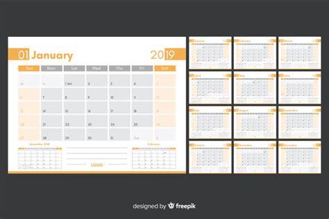 plantilla de calendario descargar vectores gratis