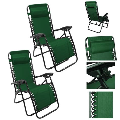 chaise cing go sport 2pc lounge patio chairs outdoor yard zero gravity folding portable chaise chair ebay