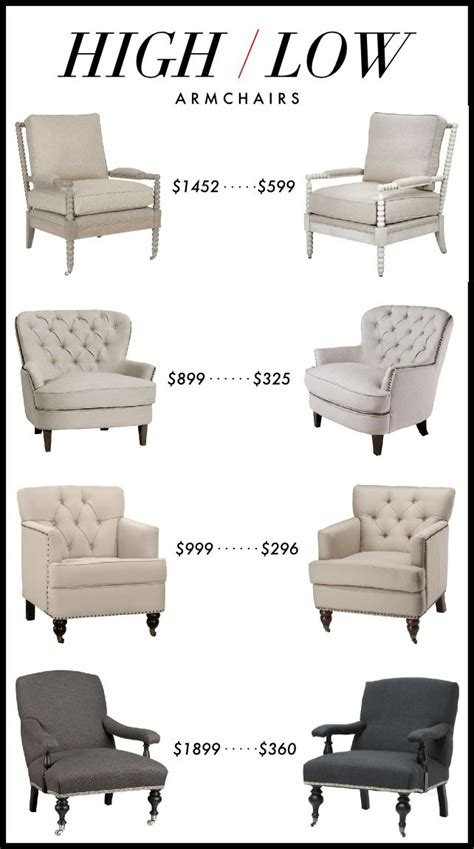 market high low armchairs home decor