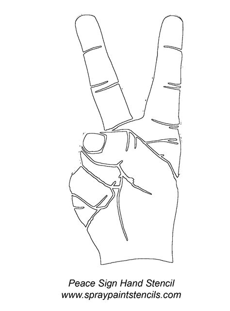 70's outlines - Google Search | Zentangles and Doodles | Outline designs, Peace sign hand, Hand