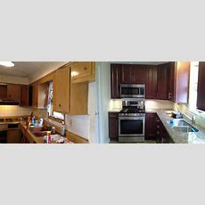 Transistional Kitchen Remodeling  Before And After Photos