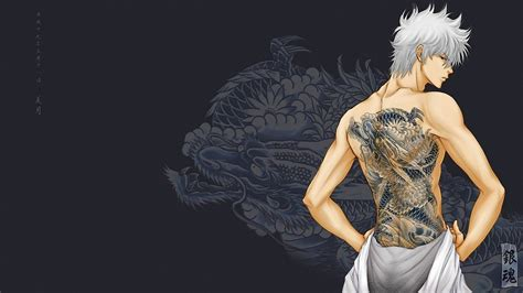 gintama sakata gintoki dragon wallpapers hd desktop