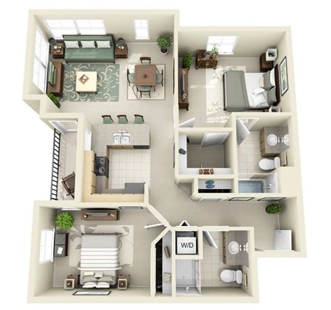 Two Bedroom House Design Pictures 2 bedroom apartment house plans