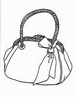 Purse Handbag Coloring Tassen Kleurplaten Template sketch template