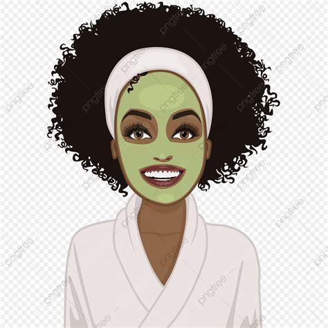 black woman  spa face mask beauty beautiful salon
