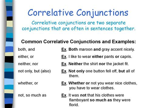 conjunctions table  contents prezentatsiya onlayn