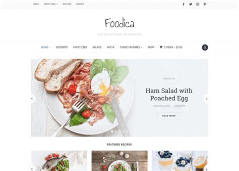 foodica beautiful recipe food blog wordpress theme wpzoom