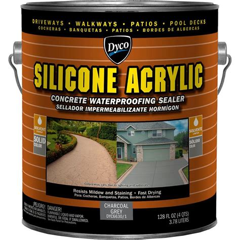 dyco silicone acrylic 1 gal charcoal grey exterior opaque