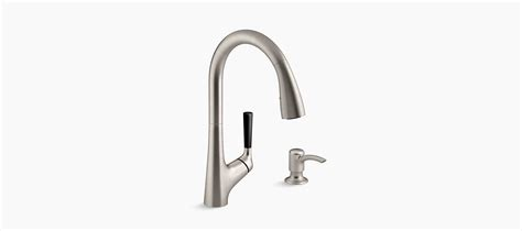 kohler malleco pull down kitchen sink faucet with soap dispenser malleco pull down kitchen sink faucet w soap dispenser