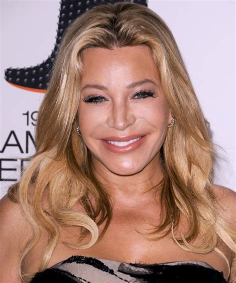 Taylor Dayne Long Straight Casual Hairstyle   Light Blonde