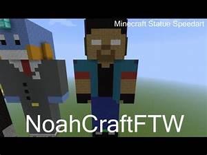 Minecraft Statue Speedart - NoahCraftFTW - YouTube