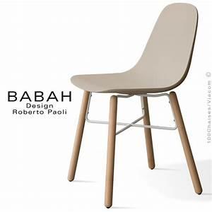 Chaise Bois Design : chaise design babah wood pieds bois naturel assise coque plastique dossier fantaisie ~ Teatrodelosmanantiales.com Idées de Décoration