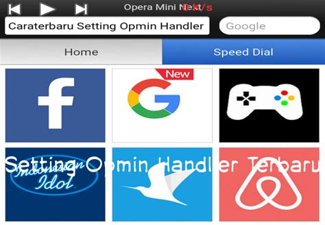 cara setting opera mini handler apk gratis telkomsel terbaru april 2019 blogs goblog