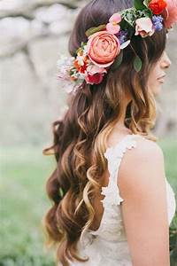 18 Gorgeous Wedding Hairstyles with Flower Crown - Page 3 ...