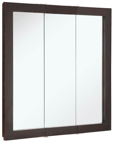 Kohler Tri Mirror Medicine Cabinet by Design House 541342 Ventura Espresso Tri View Medicine