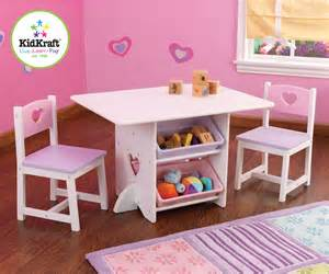 kidkraft 26913 heart table and chair set