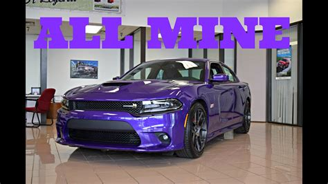 buying   dodge charger scat pack plum crazy purple