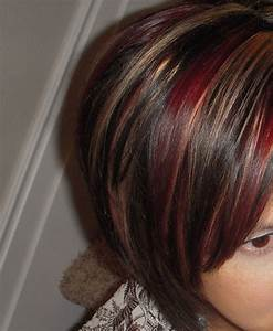 Red and Caramel highlights | Hair ideas | Pinterest | Hair ...