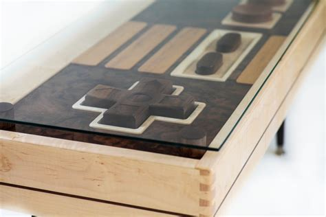 wooden nes controller coffee table functional