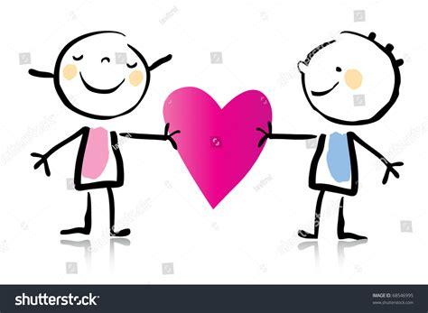 valentines day cartoon romantic couple love stock vector