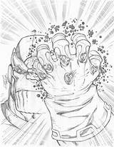 Infinity Gauntlet Coloring Sketch Sketches Adult Fresh Clip Draw sketch template