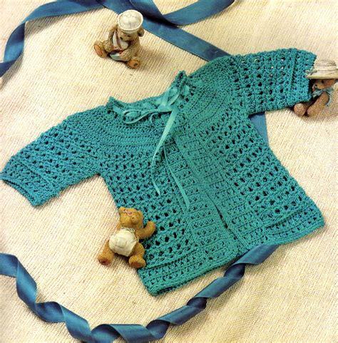 tejidos artesanales en crochet: saquito para bebe tejido