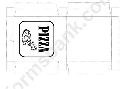 pizza box template printable