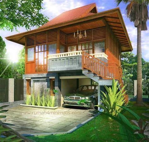 desain rumah kayu minimalis klasik  sederhana