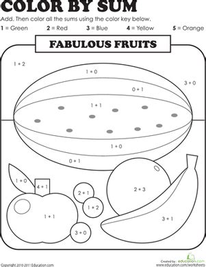 color by sum color by sum fabulous fruits projects to try number