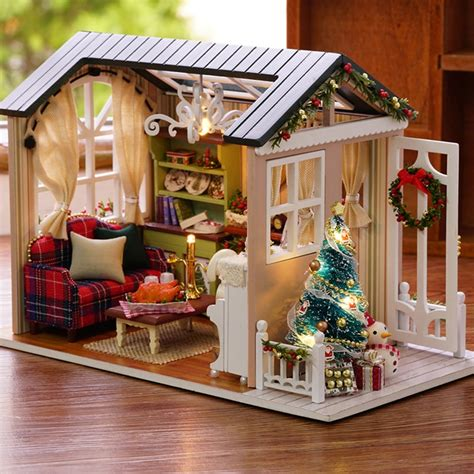 diy miniature wooden doll house furniture kits toys