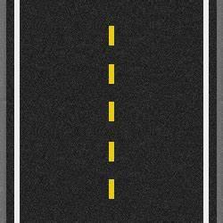 Single Broken Yellow Line Pavement Markings