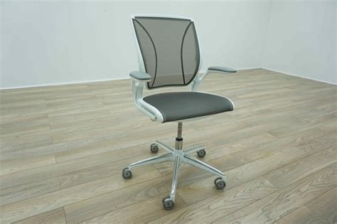 humanscale diffrient world white grey mesh office task