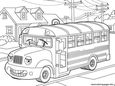 school bus  kids coloring pages printable